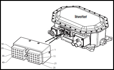 40 pin connector to inverter Eaton fuller transmission