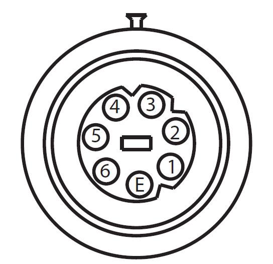 APG 7-way High-Voltage AC Connector View