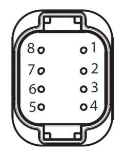 APG 8-way low-voltage connector view