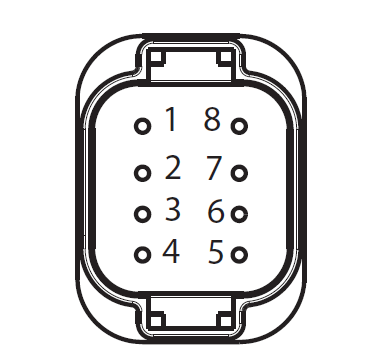 APG 8-way low-voltage harness connector