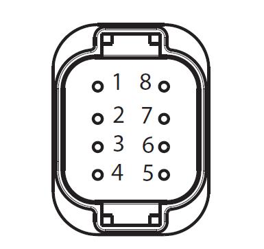 APG 8-way low-voltage harness connector