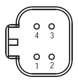 Deutsch 4-way OEM connector