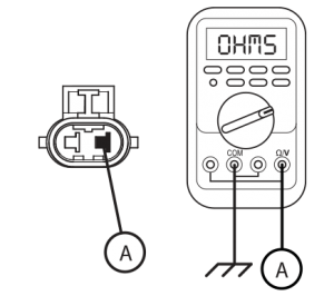 Measure gear motor resistance Eaton Fuller transmission