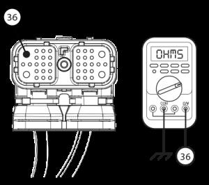 Measure resistance gear motor Eaton Fuller transmission