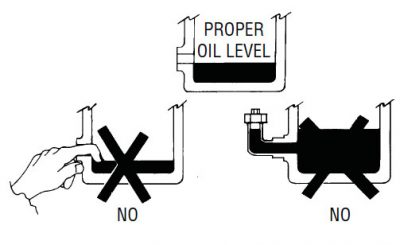 proper oil level in heavy duty engine